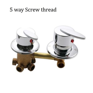 MTTUZK Shower room wall mounted hot and cold faucet mixing valve  3/4/5 ways shower mixer thermostatic faucets