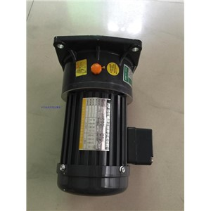200W small AC gear motor 220Vac 60hz 3 phase with brake1# gearbox ratio 20:1 Horizontal installation output shaft 18mm diameter