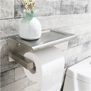 Toilet Paper Holder Stainless Steel Bathroom Toilet Holders Wall Mounted with Mobile Phone Shelf GX Diffuser