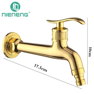 Nieneng Washing Machine Antique Brass Tap Golden Faucet Bibcock Small Faucet Outdoor Faucet For Garden Accessories  ICD60512