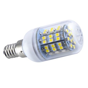 Energy Saving E14 60 SMD 3528 LED 450LM Corn Light Lamp Bulb 3000-3500K Equivalent Halogen 50W Warm White