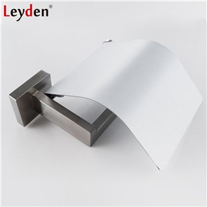 Leyden Toilet Paper Holder Cover SUS304 Stainless Steel Wall Mounted Brushed Nickel/ Chrome Bathroom Tissue Paper Roll Holder