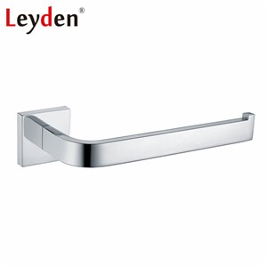 Leyden Modern Silver Toilet Paper Holder Stainless Steel Polished Chrome Toilet Roll Tissue Paper Holder Bathroom Accessories
