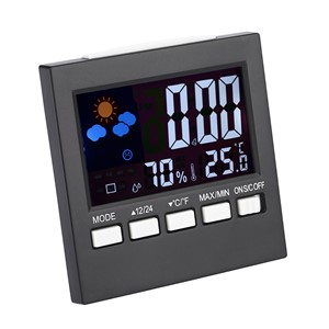 KKMOON Weather Station Alarm Clock Hygrometer Termometro Digital Barometer Colorful Thermometer Calendar Clock desk LCD Display