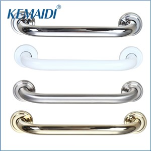 KEMAIDI Luxury Bathroom Handrails Polished GoldenWall Mounted Bathroom Safety Grab Rail Grab Bar Shower Room Hand Rail