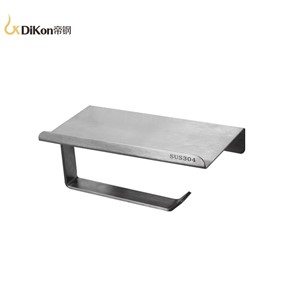 DiKon Toliet Paper holder shelf Solid 304 stainless steel Simple Style Wall Mounted Bathroom Accessories Product Tissue Rack Box