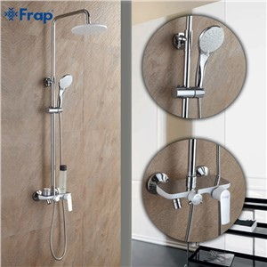 Frap Fashion Style Shower Faucet Cold and Hot Water Mixer Single Handle with Adjustable rain Shower Bar and Shower Head F2431