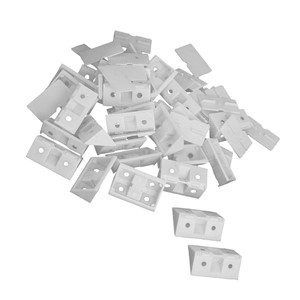 Hot 30pcs Shelf Cabinet 90 Degree Plastic Corner Braces Angle Brackets White