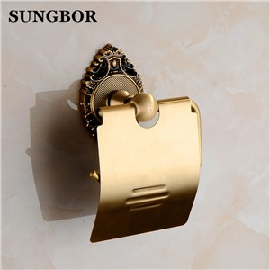 Antique brass paper towel rack europe style bathroom paper holder roll Holder tissue toilet paper box toilet accessories SH-9608