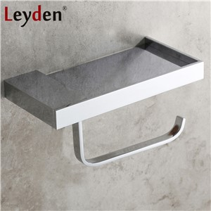 Leyden Copper 4 Color Toilet Roll Holder Toilet Paper Holder with Shelf Wall Mounted Toilet Paper Rack Bathroom Accessories