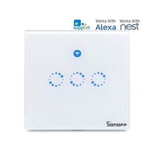 Sonoff T1 1-3 Gang WiFi & RF 86 Type UK Smart Wall Touch Light Switch Timer Network Remote Control Smart Home Wireless Switch