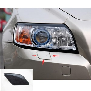 Black plastic 100% new For V/olvo S40 V50 2005-2007 Car styling front bumper headlight washer cover left or right 1pcs