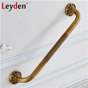 Leyden Copper Bathroom Grab Bar Toilet Handrails Wall Mounted Antique Brass/ ORB disable Shower Safety Handle Bathroom Accessory
