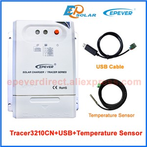 Battery charger solar controller EPsolar EPEVER MPPT Tracer3210CN+USB cable connect PC 30A Max PV input 100v