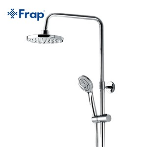 FRAP New Arrival 200*200mm ABS Shower Head Overhead Rainfall Shower Single Handle Cold and Hot Water Mixer torneira monoc F2409