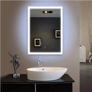 50X60cm bath mirror Frame led illuminated framed bath mirror bathroom mirrors wall hung mirrors IP44 E102 90-240V  Fast shipping