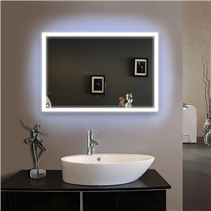 Frame led illuminated framed bath mirror  bathroom mirrors wall hung mirrors IP44 E102 90-240V80X70cm  Fast shipping