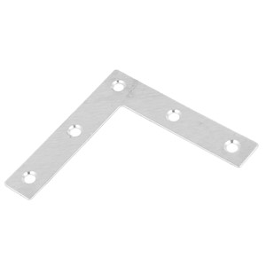 Angle Plate Corner Brace Flat L Shape Repair Bracket 80mmx80mm 8pcs