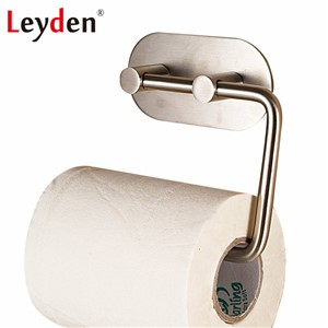 Leyden 304 Stainless Steel Brushed 3M Self Adhesive Tissue Holder Toilet Paper Holder Bathroom Paper Holder Bathroom Accessories