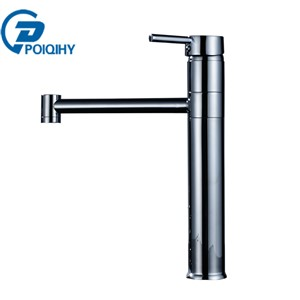 POIQIHY Sink Faucet Single Handle Swivel Basin Faucet Bathroom Modern Mixer Taps Faucets Modern Mixer Water Bathroom Faucet