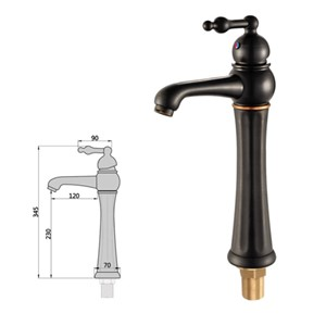 Fashion Solid Brass construction bronze/Black finished water tap Deck Mounted Basin Faucet Sink Faucet Bathroom basin Faucet