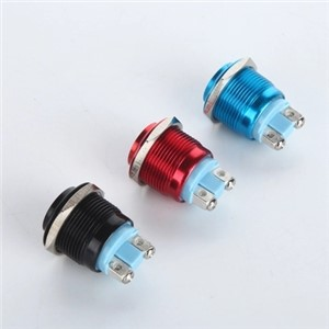 16mm High Head Waterproof Metal Push Button Switch Reset Button Switch Momentary Horn Car Red Green Yellow Blue Black 3A 250 VDC