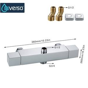 EVERSO Thermostatic Mixing Valve Bathroom Shower Set Thermostatic Control Shower Faucet Shower Mixer