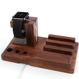 SZYSGSD Luxury Natural Wood Charging Dock Stand Phone Holder For Apple Iphone 6 6s Plus 5s 5c 5 SE 4s for iWatch iPad Bracket