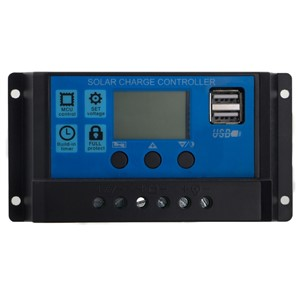 NEW PWM 10/20/30A Dual USB Solar Panel Battery Regulator Charge Controller 12/24V LCD  H15