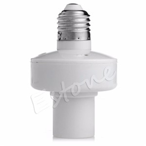 New E27 Screw Wireless Remote Control Light Lamp Bulb Holder Cap Socket Switch L15