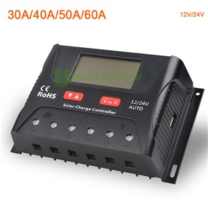 PWM Solar Charge Controller/Regulator 30A/40A/50/60A 12V/24V auto Battery Equalizing Charging APP Monitoring Street Light