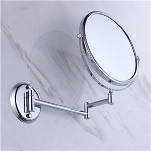 Wall Mounted Beauty Mirror Brass 1*3 Magnification With Flodable Extension Arm Chrome