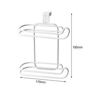 Toilet Seat Roll Paper Holder Hanging Organizer 2 Layers Stainless Steel Tissue Towel Shelf Kitchen Bathroom Storage Rack