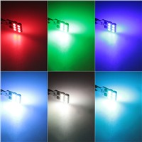 1set 5050 SMD RGB T10 194 168 W5W Car Reading Wedge Light Lamp 12 LED 16 Colors LED Bulb With Remote Controller Flash/Strobe