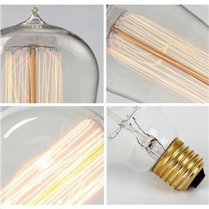 T.Y.S Edison Bulb Luminaria St64 Retro Lamp Bombilla Vintage Lampada Filamento 220V 40W E27 Antique Decor Bulbs Carbon Filament