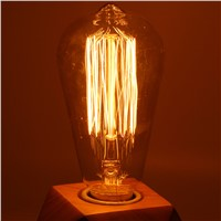 ST64 Retro Edison Bulb E27 220V 40W Incandescent Light Bulb filament bulb lighting Edison Lamp