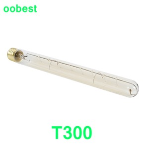 T300 40W 110V Edison Incandescent E27 Light Bulb Nostalgic Tungsten Filament Long Tube Pendant Lamps Tungsten decor