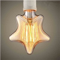 Retro Lamp E27 Christmas Lights Indoor Vintage Star Shape Edison Bulb Filament Incandescent Lamp Decorative Light Bulb For Home