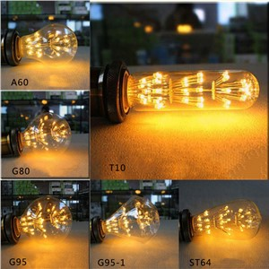 Antique Vintage Retro Edison Light Bulbs 220V E27 40W Incandescent Light Bulbs