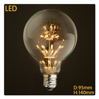 Sample New G95 star LED 3W Christmas decorative bulb E27 edison110-240V Filament Bulb Edison Lamp for Home Decoration Lighting