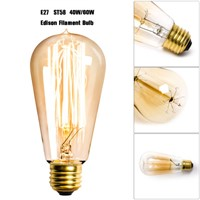 1pc ST58 Filament Bulb Edison Globe Vintage 110V 60W Light Bulbs Cage Industrial Tungsten  incandescent bulb
