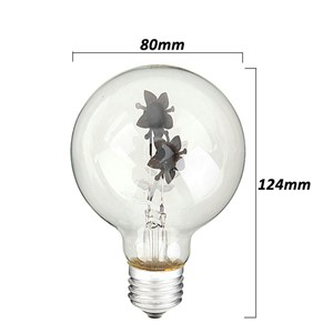 E27 3W Incandescent Bulbs Sunflower Shaped Decorative Edison Light Bulb 220V