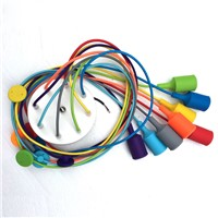 E27 Bulb Holder Lamps Modern Pendant Lights Colourful DIY Lighting Multi-color Silicone Home Decoration 4-12 Arms Fabric Cable