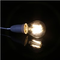 E27 A60 4W LED Retro Bright Powerful Filament Light Bulbs Transparent Glass