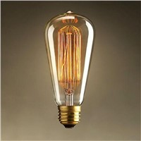 Vintage Retro Edison Bulb E27 ST64 220V/40W Industrial Light Ceiling Lamp Lighting For Home Decor