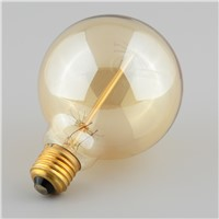 Vintage Vetro Tungsten Filament E27 Globe Edison Light Bulb Lamp Incandescent Replacement 40W 220V G95ST