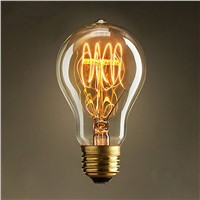 A19 Incandescent Bulbs Vintage Edison Light Bulbs E27 Antique Light Clear Glass 40W 120V/220V Edison Bulb Lamp Home Decoration