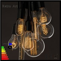 40W G125 Globe Decorative edison light bulb Squirrel Cage Straight Vintage Filament Edison Bulb
