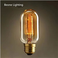 Vintage Edison Bulbs E27 Incandescent Globe Filament Bulb Squirrel-cage Carbon Bulb Retro Edison Light For Pendant Lamp T45