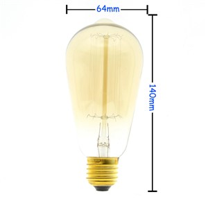 E27 60W Incandescent Bulb 220V Retro Edison Style Light Bulb for Indoor Decorative Lighting Bedroom Hotel Restaurant